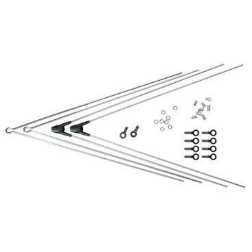 Комплект крепежа для BLUEMELS: 2 стойки ASR, 2 V-стойки, 380 мм, серебряный, 0000008315-0380Крылья для велосипедов<br>Комплект крепежа для BLUEMELS: 2 стойки ASR, 2 V-стойки 380 мм, серебряный<br>