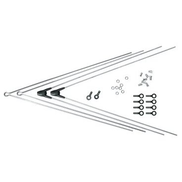 Комплект крепежа для BLUEMELS: 2 стойки ASR, 2 V-стойки, 335 мм, серебряный, 0000008315-0335Крылья для велосипедов<br>Комплект крепежа для BLUEMELS: 2 стойки ASR, 2 V-стойки, 335 мм, серебристый<br>