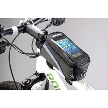 Велосумка MINGDA на раму L20хH9,5хW9, с отделением для смартфона, окошко 4,8, на липучках, 12496-LВелосумки<br>Сумка на раму L20хH9,5хW9 с отделением для смартфона, окошко 4,8, крепление на липучках, материал 420D влагостойкий, светоотражающий кант, отверстие для наушников<br>