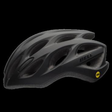 Велосипедный Шлем Bell 17 DRAFT MIPS АКТИВНЫЙ ОТДЫХ  матовый. черный. размер U. BE7078285Велошлемы<br>Описание<br>Универсальный шлем Bell Draft MIPS матовый , для поездок на прогулочном и дорожном велосипеде. Классическая обтекаемая форма подходит для города и загородных поездок.<br>Технология MIPS (Multi-Directional Impact Protection System) дополнительно защищает голову от разнонаправленных ударных воздействий.<br>Конструкция включает корпус из поликарбоната, систему посадки Ergo Fit для регулировки одной рукой и 25 каналов для вентиляции. Рассчитан на ежедневное применение как мужчинами, <br>Отличительные особенности<br>Технология MIPS для дополнительной защиты головы<br>Регулировка подгонки по голове одной рукой ErgoFit® System<br>25 вентиляционных отверстия для комфорта в жаркую погоду<br>Внешняя оболочка из поликарбоната для прочности конструкции<br>Мягкий материал лямок не растягивается от пота или воды<br>Универсальное ежедневное применение<br>Рассчитан на мужчин и женщин<br>Технические характеристики<br>Модель:Bell Draft MIPS<br>Подгонка посадки: универсальная ErgoFit® System<br>Характеристики: Extended In-Mold Polycarbonate Shell, MIPS<br>Материал: оболочка поликарбонат, внутренний SoftFoam пенный пластик<br>Вентиляция: 25 каналов<br>Применение: универсальный, город, фитнес, туризм<br>Размеры: U (54-61 см)<br>Вес:299 г<br>