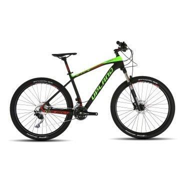 Горный велосипед Upland Arrow LTD-650B 27,5 2017Горные (MTB)<br>Upland Arrow LTD-650B<br>    Upland Arrow LTD-650B -&amp;nbsp; надежный горный велосипед с колесами 27.5 . Велосипед оснащен оборудованием прогулочного уровня фирмы Shimano, надежными дисковыми гидравличкскими тормозами прогулочного уровня, амортизационной вилкой c ходом 100 мм, воздушной пружиной и возможностью ее блокировки<br><br>    <br>        <br>            Общие характеристики<br>        <br>        <br>            Модель<br>            2017 года<br>        <br>        <br>            Тип<br>            для взрослых<br>        <br>        <br>            Область применения<br>            горный (MTB)<br>        <br>        <br>            Вес велосипеда<br>            11 кг<br>        <br>        <br>            Рама, вилка<br>        <br>        <br>            Материал рамы<br>            Карбон<br>        <br>        <br>            Размеры рамы<br>            18.0<br>        <br>        <br>            Амортизация<br>            Hard tail (с амортизационной вилкой)<br>        <br>        <br>            Наименование мягкой вилки<br>            ROCKSHOX RECON SILVER LOCKOUT 100MM 15QR<br>        <br>        <br>            Корона<br>            Кованый 6061 Т-6 алюминий с внешними карманами<br>        <br>        <br>            Регулировки вилки<br>            Отскок, блокировка TurnKey<br>        <br>        <br>            Максимальный размер ротора<br>            200 мм<br>        <br>        <br>            Колеса<br>        <br>        <br>            Диаметр колес<br>            27.5 дюймов<br>        <br>        <br>            Наименование покрышек<br>            W/SHIMANO DEORE HUBS<br>        <br>        <br>            Наименование колес<br>            DT SWISS &amp;nbsp;DISC W/SHIMANO DEORE HUBS<br>        <br>        <br>            Торможение<br>        <br>        <br>            Наименование переднего тормоза<br>            SHIMANO DEORE HYDRAULIC DISC<br>        <br>        