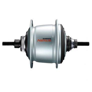 Втулка планетарная SHIMANO Nexus, 36 отверстий, 8 скоростей, C.Lock, 135x187 мм, KSGC60018DASВтулки для велосипеда<br>Shimano Nexus SG-C6001 Втулка с внутренним механизмом переключения для применения с дисковым тормозом, крепление ротора Center Lock, 8-скоростная, 135х187 мм. Более высокая эффективность переключения даже при сильном натяжении цепи, обусловленном двигателями  электровелосипедов E-bike,  подходит как для применения на электровелосипедах, так и на обычных. Вес 1730 гр.<br><br>Комплектация: без упаковки, не комплектуется шифтером, переключателем и мелкими запчастями. Цвет серебристый.<br>