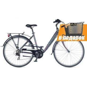 Дорожный/Городской велосипед Author MAJESTY 28 2015 (Автор)Городские<br>Женский дорожный велосипед в базовой комплектации. Отличный выбор для ежедневной езды по городу. Очень комфортный и надёжный. Заниженная алюминиевая рама, ободная тормозная система, жесткая рама. Колёса 28 дюймов со светоотражающими полосами, 21 скорость, вес 14.6 кг.<br><br><br><br><br><br><br>Общие характеристики<br><br><br>Модель<br>2015 года<br><br><br>Тип<br>для взрослых, женская модель<br><br><br>Область применения<br>дорожный, туринг<br><br><br>Вес велосипеда<br>14.6 kg / 19<br><br><br>Рама, вилка<br><br><br>Материал рамы<br>алюминиевый сплав 6061 700c (L)<br><br><br>Размеры рамы<br>17.0, 19.0 дюйм<br><br><br>Амортизация<br>отсутствует<br><br><br>Конструкция вилки<br>жесткая<br><br><br>Конструкция рулевой колонки<br>интегрированная, резьбовая<br><br><br>Размер рулевой колонки<br>PRESTINE Integrated 1-1/8<br><br><br>Колеса<br><br><br>Диаметр колес<br>28 дюймов<br><br><br>Наименование покрышек<br>CST Reflexive Stripes, 700x40c<br><br><br>Наименование ободов<br>alloy 32 holes<br><br><br>Материал обода<br>алюминиевый сплав<br><br><br>Двойной обод<br>нет<br><br><br>Материал бортировочного шнура<br>металл<br><br><br>Торможение<br><br><br>Наименование переднего тормоза<br>Tektro 855<br><br><br>Тип переднего тормоза<br>ободной (V-Brake)<br><br><br>Уровень переднего тормоза<br>прогулочный<br><br><br>Наименование заднего тормоза<br>Tektro 855<br><br><br>Тип заднего тормоза<br>ободной (V-Brake)<br><br><br>Уровень заднего тормоза<br>прогулочный<br><br><br>Трансмиссия<br><br><br>Количество скоростей<br>21<br><br><br>Уровень заднего переключателя<br>начальный<br><br><br>Наименование заднего переключателя<br>Shimano TX55<br><br><br>Уровень переднего переключателя<br>начальный<br><br><br>Наименование переднего переключателя<br>Shimano TX50<br><br><br>Уровень манеток<br>начальный<br><br><br>Наименование манеток<br>Shimano RevoShift<br><br><br>Конструкция манеток<br>вращающаяся ручка<br><br><br>Уровень кар