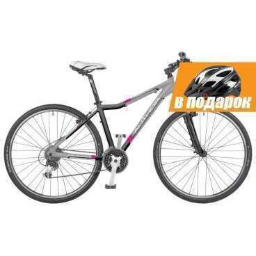 Гибрид-велосипед Author Stratos  asl 2014 (Автор)Гибридные<br>Гибрид-велосипед Author STRATOS ASL 2015уже в продаже<br><br>Женская модель туристического горного велосипеда. Рама с удобной женской геометрией, выполнена из алюминиевого сплава, отличается своей прочностью и лёгким весом. Для большего комфорта эта универсальная модель оснащена амортизационной вилкой Hard tail с ходом 60 мм и блокировкой. 28-дюймовые колёса, 24 скорости. <br><br><br><br><br>Общие характеристики<br><br><br>Модель<br>2014 года<br><br><br>Тип<br>для взрослых, женская модель<br><br><br>Область применения<br>горный (MTB), гибрид<br><br><br>Вес велосипеда<br>13.4 кг<br><br><br>Рама, вилка<br><br><br>Материал рамы<br>алюминиевый сплав<br><br><br>Размеры рамы<br>17.0, 19.0 дюйм<br><br><br>Амортизация<br>Hard tail (с амортизационной вилкой)<br><br><br>Наименование мягкой вилки<br>RST Nova ML 700C<br><br><br>Конструкция вилки<br>пружинно-маслянная<br><br><br>Уровень мягкой вилки<br>прогулочный<br><br><br>Ход вилки<br>60 мм<br><br><br>Регулировки вилки<br>жесткости пружины, блокировка хода<br><br><br>Конструкция рулевой колонки<br>интегрированная, безрезьбовая<br><br><br>Размер рулевой колонки<br>1 1/8<br><br><br>Колеса<br><br><br>Диаметр колес<br>28 дюймов<br><br><br>Наименование покрышек<br>Author Panaracer Silk Road Cross, 700x38c<br><br><br>Наименование ободов<br>Author Xenon Cross<br><br><br>Материал обода<br>алюминиевый сплав<br><br><br>Двойной обод<br>есть<br><br><br>Материал бортировочного шнура<br>металл<br><br><br>Торможение<br><br><br>Наименование переднего тормоза<br>Tektro 857AL<br><br><br>Тип переднего тормоза<br>ободной (V-Brake)<br><br><br>Уровень переднего тормоза<br>прогулочный<br><br><br>Наименование заднего тормоза<br>Tektro 857AL<br><br><br>Тип заднего тормоза<br>ободной (V-Brake)<br><br><br>Уровень заднего тормоза<br>прогулочный<br><br><br>Возможность крепления дискового тормоза<br>вилка<br><br><br>Трансмиссия<br><br><br>Количество скоростей<br>24<br><br><br>Уровень заднего пе