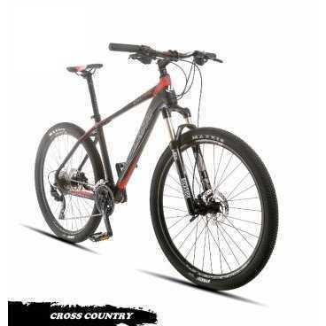 Горный велосипед Upland Count 300 27.5 2017Горные (MTB)<br>Upland Count 300<br>Upland Count 300 надежный горный велосипед с колесами 27.5. Велосипед оснащен оборудованием прогулочного уровня фирмы Shimano, надежными дисковыми гидравличкскими тормозами прогулочного уровня, амортизационной вилкой c ходом 100 мм, воздушной пружиной и возможностью ее блокировки. Материал рамы - алюминий, это обеспечивает снижение веса всей конструкции и придает ей необходимую жесткость<br><br><br><br><br>Общие характеристики<br><br><br>Модель<br>2017 года<br><br><br>Тип<br>для взрослых<br><br><br>Область применения<br>Горный (кросс-кантри)<br><br><br>Вес велосипеда<br>12.7 кг<br><br><br>Рама, вилка<br><br><br>Наименование рамы<br>LIGHT ALUMINIUM GW01 TB TAPER<br><br><br>Материал рамы<br>Алюминий<br><br><br>Размеры рамы<br>17<br><br><br>Наименование мягкой вилки<br>ROCKSHOX 30 SILVER LOCKOUT 100MM<br><br><br>Амортизация<br>Hard tail (с амортизационной вилкой)<br><br><br>Тип вилки<br>Воздушная<br><br><br>Ход вилки<br>100 мм<br><br><br>Колеса<br><br><br>Диаметр колес<br>27.5 дюймов<br><br><br>Наименование колес<br>UPLAND 29A W/SHIMANO HUBS<br><br><br>Наименование покрышек<br>SCHWALBE RAPID ROB&amp;nbsp;27.5*2.25<br><br><br>Торможение<br><br><br>Наименование переднего тормоза<br>SHIMANO HYDRAULIC DISC<br><br><br>Тип переднего тормоза<br>дисковый гидравлический<br><br><br>Уровень переднего тормоза<br>прогулочный<br><br><br>Наименование заднего тормоза<br>SHIMANO HYDRAULIC DISC<br>&amp;nbsp;<br><br><br>Тип заднего тормоза<br>дисковый гидравлический<br><br><br>Уровень заднего тормоза<br>прогулочный<br><br><br>Трансмиссия<br><br><br>Количество скоростей<br>30<br><br><br>Уровень заднего переключателя<br>прогулочный<br><br><br>Наименование заднего переключателя<br>SHIMANO DEORE<br><br><br>Уровень переднего переключателя<br><br><br><br><br>прогулочный<br><br><br><br><br><br><br>Наименование переднего переключателя<br>SHIMANO DEORE<br><br><br>Уровень манеток<br>прогулочные<br><br><br>Наименование м