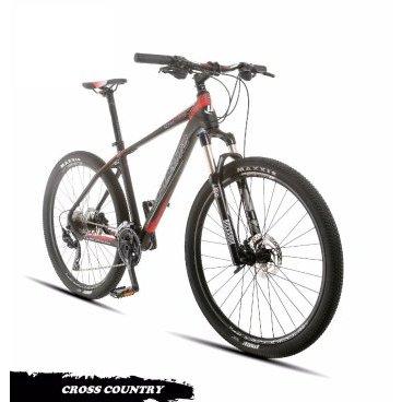 Горный велосипед Upland Count 300 27.5 2017Горные (MTB)<br>Upland Count 300<br>Upland Count 300 надежный горный велосипед с колесами 27.5. Велосипед оснащен оборудованием прогулочного уровня фирмы Shimano, надежными дисковыми гидравличкскими тормозами прогулочного уровня, амортизационной вилкой c ходом 100 мм, воздушной пружиной и возможностью ее блокировки. Материал рамы - алюминий, это обеспечивает снижение веса всей конструкции и придает ей необходимую жесткость<br><br><br><br><br>Общие характеристики<br><br><br>Модель<br>2017 года<br><br><br>Тип<br>для взрослых<br><br><br>Область применения<br>Горный (кросс-кантри)<br><br><br>Вес велосипеда<br>12.7 кг<br><br><br>Рама, вилка<br><br><br>Наименование рамы<br>LIGHT ALUMINIUM GW01 TB TAPER<br><br><br>Материал рамы<br>Алюминий<br><br><br>Размеры рамы<br>19<br><br><br>Наименование мягкой вилки<br>ROCKSHOX 30 SILVER LOCKOUT 100MM<br><br><br>Амортизация<br>Hard tail (с амортизационной вилкой)<br><br><br>Тип вилки<br>Воздушная<br><br><br>Ход вилки<br>100 мм<br><br><br>Колеса<br><br><br>Диаметр колес<br>27.5 дюймов<br><br><br>Наименование колес<br>UPLAND 29A W/SHIMANO HUBS<br><br><br>Наименование покрышек<br>SCHWALBE RAPID ROB&amp;nbsp;27.5*2.25<br><br><br>Торможение<br><br><br>Наименование переднего тормоза<br>SHIMANO HYDRAULIC DISC<br><br><br>Тип переднего тормоза<br>дисковый гидравлический<br><br><br>Уровень переднего тормоза<br>прогулочный<br><br><br>Наименование заднего тормоза<br>SHIMANO HYDRAULIC DISC<br>&amp;nbsp;<br><br><br>Тип заднего тормоза<br>дисковый гидравлический<br><br><br>Уровень заднего тормоза<br>прогулочный<br><br><br>Трансмиссия<br><br><br>Количество скоростей<br>30<br><br><br>Уровень заднего переключателя<br>прогулочный<br><br><br>Наименование заднего переключателя<br>SHIMANO DEORE<br><br><br>Уровень переднего переключателя<br><br><br><br><br>прогулочный<br><br><br><br><br><br><br>Наименование переднего переключателя<br>SHIMANO DEORE<br><br><br>Уровень манеток<br>прогулочные<br><br><br>Наименование м