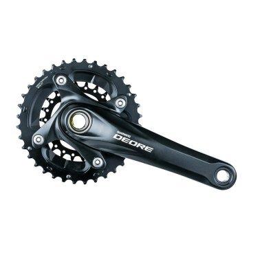 Система SHIMANO Deore, M617, 175мм, интегрированный вал, 36/22T, без каретки, черный, EFCM617EX62LСистемы<br>Бренд: Shimano<br>Тип велосипеда: Горный<br>Серия: Deore<br>Длина шатуна: 175<br>Звезды: 36/22<br>Тип каретки: Интегрированный вал<br>