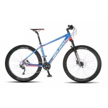 Горный велосипед Upland LTD plus 27.5 2017Горные (MTB)<br>Upland LTD plus<br>Upland LTD plus надежный горный велосипед с колесами 27.5. Велосипед оснащен оборудованием профессионального уровня фирмы Shimano, надежными дисковыми гидравличкскими тормозами, амортизационной вилкой c ходом 100 мм, воздушной пружиной и возможностью ее блокировки. Материал рамы - алюминий, это обеспечивает снижение веса всей конструкции и придает ей необходимую жесткость<br>&amp;nbsp;<br><br><br><br><br>Общие характеристики<br><br><br>Модель<br>2017 года<br><br><br>Тип<br>для взрослых<br><br><br>Область применения<br>Горный<br><br><br>Вес велосипеда<br>13.8 кг<br><br><br>Рама, вилка<br><br><br>Наименование рамы<br>Light Aluminium G6069 TB Taper<br><br><br>Материал рамы<br>Алюминий<br><br><br>Размеры рамы<br>17<br><br><br>Наименование мягкой вилки<br>MANITOU MAGNUM COMP LOCKOUT<br><br><br>Амортизация<br>Hard tail (с амортизационной вилкой)<br><br><br>Тип вилки<br>Воздушная<br><br><br>Ход вилки<br>100 мм<br><br><br>Колеса<br><br><br>Диаметр колес<br>27.5 дюймов<br><br><br>Наименование колес<br>SUNRINGLE SRC 27.5 PLUS<br><br><br>Наименование покрышек<br>MAXXIS 27.5*3.0 PLUS<br><br><br>Торможение<br><br><br>Наименование тормоза<br>SHIMANO DEORE HYDRAULIC DISC<br><br><br>Тип тормоза<br>дисковый гидравлический<br><br><br>Уровень тормоза<br>професстональный<br><br><br>Трансмиссия<br><br><br>Количество скоростей<br>20<br><br><br>Уровень переключателя<br>професстональный<br><br><br>Наименование переключателя<br>SHIMANO SLX<br><br><br>Уровень манеток<br>професстональный<br><br><br>Наименование манеток<br>SHIMANO SLX (2*10)<br><br><br>Система<br>SHIMANO DEORE 38/24T<br><br><br>Тип посадочной части вала каретки<br>Hollowtech II<br><br><br>Количество звезд системы<br>2, число зубьев 38-24<br><br><br>Конструкция педалей<br>классическая<br><br><br>Руль<br><br><br>Наименование руля<br>FSA HB-XC-286L-OS740<br><br><br>Конструкция руля<br>прямой<br><br><br>Вынос<br>FSA ST-OS-168LX<br><br>&amp;nbsp;<br><br><b