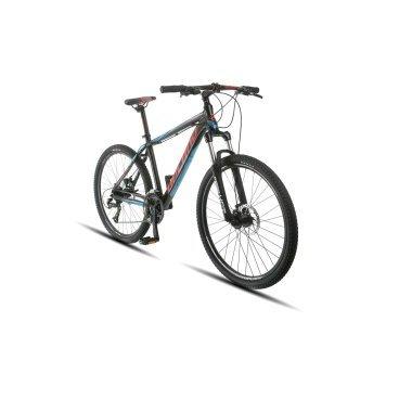 Горный велосипед Upland Vanguard 200 26 2017Горные (MTB)<br>Upland Vanguard 200<br>Upland Vanguard 200 надежный горный велосипед с колесами 26 дюймов. Велосипед оснащен оборудованием&amp;nbsp; фирмы Shimano, надежными дисковыми механическими тормозами, амортизационной вилкой c ходом 100 мм, масляной пружиной и возможностью ее блокировки. Материал рамы - алюминий, это обеспечивает снижение веса всей конструкции и придает ей необходимую жесткость<br><br><br><br><br>Общие характеристики<br><br><br>Модель<br>2017 года<br><br><br>Тип<br>для взрослых<br><br><br>Область применения<br>Горный<br><br><br>Вес велосипеда<br>10 кг<br><br><br>Рама, вилка<br><br><br>Наименование рамы<br>LIGHT ALUMINIUM GW01 TB TAPER<br><br><br>Материал рамы<br>Алюминий<br><br><br>Размеры рамы<br>17.5<br><br><br>Наименование вилки<br>SR SUNTOUR XCT-HLO LOCKOUT<br><br><br>Амортизация<br>Hard tail (с амортизационной вилкой)<br><br><br>Тип вилки<br>масляная<br><br><br>Ход вилки<br>100 мм<br><br><br>Колеса<br><br><br>Диаметр колес<br>26 дюймов<br><br><br>Наименование колес<br>UPLAND 29A W/KT HUBS<br><br><br>Наименование покрышек<br>KENDA 26*2.1<br><br><br>Торможение<br><br><br>Наименование тормоза<br>SHIMANO BR-TX805 MECHANICAL DISC<br><br><br>Тип тормоза<br>дисковый механический<br><br><br>Уровень тормоза<br>прогулочный<br><br><br>Трансмиссия<br><br><br>Количество скоростей<br>27<br><br><br>Уровень переключателя<br>прогулочный<br><br><br>Наименование заднего переключателя<br>SHIMANO RD-M370<br><br><br>Наименование переднего переключателя<br>SHIMANO FD-M370<br><br><br>Уровень манеток<br>прогулочный<br><br><br>Наименование манеток<br>SHIMANO ST-EF51-27<br><br><br>Система<br>UPLAND W/CG 44/32/22<br><br><br>Тип посадочной части вала каретки<br>Квадрат<br><br><br>Количество звезд системы<br>3, число зубьев 44-32-22<br><br><br>Конструкция педалей<br>классическая<br><br><br>Руль<br><br><br>Наименование руля<br>Upland HB024<br><br><br>Конструкция руля<br>бараньи рога<br><br><br>Вынос<br>Upland HS003<br><br><b