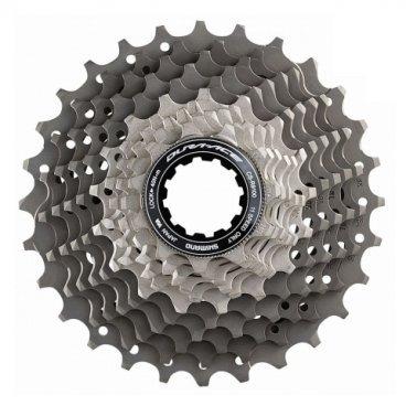 Кассета велосипедная SHIMANO Dura-Ace, R9100, 11 скоростей, звезды 11-28, ICSR910011128Кассеты<br>Кассета Shimano Dura-Ace CS-R9100, для привода 11 скоростей, звезды 11-28.<br>