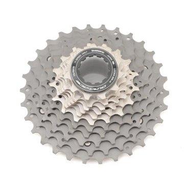 Кассета велосипедная SHIMANO Dura-Ace, R9100, 11 скоростей, звезды 11-30, ICSR910011130Кассеты<br>Кассета Shimano Dura-Ace CS-R9100, для привода 11 скоростей, звезды 11-30.<br>