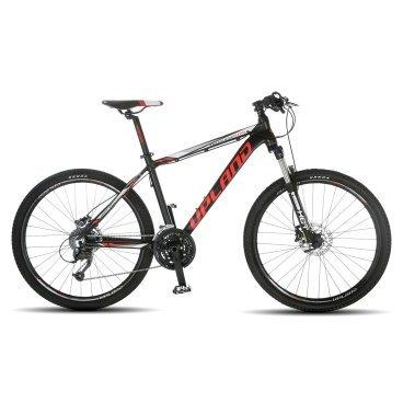 Горный велосипед Upland Vanguard 500 26 2017Горные (MTB)<br>Upland Vanguard 500<br>Upland Vanguard 500 - надежный горный велосипед с колесами 26 дюймов. Велосипед оснащен оборудованием&amp;nbsp; фирмы Shimano, надежными дисковыми гидравличкскими тормозами, амортизационной вилкой c ходом 100 мм, масляной пружиной и возможностью ее блокировки. Материал рамы - алюминий, это обеспечивает снижение веса всей конструкции и придает ей необходимую жесткость<br><br>&amp;nbsp;<br><br><br><br><br>Общие характеристики<br><br><br>Модель<br>2017 года<br><br><br>Тип<br>для взрослых<br><br><br>Область применения<br>Горный<br><br><br>Вес велосипеда<br>13.6 кг<br><br><br>Рама, вилка<br><br><br>Наименование рамы<br>LIGHT ALUMINIUM GW01 TB TAPER<br><br><br>Материал рамы<br>Алюминий<br><br><br>Размеры рамы<br>17.5<br><br><br>Наименование вилки<br>SR SUNTOUR XCT-HLO LOCKOUT<br><br><br>Амортизация<br>Hard tail (с амортизационной вилкой)<br><br><br>Тип вилки<br>масляная<br><br><br>Ход вилки<br>100 мм<br><br><br>Колеса<br><br><br>Диаметр колес<br>26 дюймов<br><br><br>Наименование колес<br>UPLAND 29A W/KT HUBS<br><br><br>Наименование покрышек<br>KENDA 26*1.95<br><br><br>Торможение<br><br><br>Наименование тормоза<br>SHIMANO BR-TX805<br><br><br>Тип тормоза<br>дисковый механический<br><br><br>Уровень тормоза<br>прогулочный<br><br><br>Трансмиссия<br><br><br>Количество скоростей<br>27<br><br><br>Уровень переключателя<br>прогулочный<br><br><br>Наименование заднего переключателя<br>SHIMANO RD-M370<br><br><br>Наименование переднего переключателя<br>SHIMANO FD-M370<br><br><br>Уровень манеток<br>прогулочный<br><br><br>Наименование манеток<br>SHIMANO SL-M370<br><br><br>Система<br>UPLAND INTEGRATED BB<br><br><br>Тип посадочной части вала каретки<br>Hollowtech<br><br><br>Количество звезд системы<br>3, число зубьев 44-32-22<br><br><br>Конструкция педалей<br>классическая<br><br><br>Руль<br><br><br>Наименование руля<br>UPLAND HB024<br><br><br>Конструкция руля<br>прямой<br><br><br>Вынос<br>Upland HS003<br><br