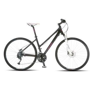 Женский велосипед Upland Pacers-L 28 2017Горные (MTB)<br>Upland Pacers-L<br>Upland Pacers-L- надежный и стильный велосипед для женщин с колесами 28 дюймов. Велосипед прекрасно подходит как для прогулок в городе, так и для езды по бездорожью, так же он оснащен оборудованием японской фирмы Shimano, надежными ободными тормозами, амортизационной вилкой c ходом 63 мм, масляной пружиной и возможностью ее блокировки. Материал рамы - алюминий, это обеспечивает снижение веса всей конструкции и придает ей необходимую жесткость<br><br>&amp;nbsp;<br><br><br><br><br>Общие характеристики<br><br><br>Модель<br>2017 года<br><br><br>Тип<br>для женщин<br><br><br>Область применения<br>Горный<br><br><br>Вес велосипеда<br>12.5 кг<br><br><br>Рама, вилка<br><br><br>Наименование рамы<br>LIGHT ALUMINIUM G6065 TB<br><br><br>Материал рамы<br>Алюминий<br><br><br>Размеры рамы<br>18<br><br><br>Наименование вилки<br>SR SUNTOUR NEX HLO LOCKOUT<br><br><br>Амортизация<br>Hard tail (с амортизационной вилкой)<br><br><br>Тип вилки<br>масляная<br><br><br>Ход вилки<br>63 мм<br><br><br>Колеса<br><br><br>Диаметр колес<br>28 дюймов<br><br><br>Наименование колес<br>JALCO XCD16 W/SHIMANO HUBS<br><br><br>Наименование покрышек<br>SCHWALBE CX COMP 700C*32C<br><br><br>Торможение<br><br><br>Наименование тормоза<br>SHIMANO HYDRAULIC DISC<br><br><br>Тип тормоза<br>Дисковый гидравлический<br><br><br>Уровень тормоза<br>прогулочный<br><br><br>Трансмиссия<br><br><br>Количество скоростей<br>27<br><br><br>Уровень переключателя<br>прогулочный<br><br><br>Наименование заднего переключателя<br>SHIMANO FD-M3000<br><br><br>Наименование переднего переключателя<br>SHIMANO FD-M3000<br><br><br>Уровень манеток<br>прогулочный<br><br><br>Наименование манеток<br>SHIMANO FD-M3000<br><br><br>Система<br>SR SUNTOUR XCM<br><br><br>Тип посадочной части вала каретки<br>Квадрат<br><br><br>Количество звезд системы<br>3, число зубьев 40-30-22<br><br><br>Конструкция педалей<br>классическая<br><br><br>Руль<br><br><br>Конструкция руля<br>прямой<br><