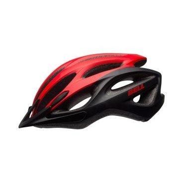Велосипедный Шлем Bell 17 TRAVERSE АКТИВНИЙ ОТДЫХ матовый. красный/черный. размер U. BE7078377Велошлемы<br>Шлем Bell Traverse для поездок на туристическом, прогулочном и дорожном велосипеде. Классическая обтекаемая форма подходит для города и загородных поездок.<br>Отличительные особенности<br>Регулировка подгонки по голове одной рукой ErgoFit® System<br>22 канала вентиляции для комфорта в жаркую погоду<br>Внешняя оболочка из поликарбоната для прочности конструкции<br>Съёмный козырёк<br>Мягкий материал лямок не растягивается от пота или воды<br>Универсальное ежедневное применение<br>Рассчитан на мужчин и женщин<br>Технические характеристики<br>Модель Bell Traverse<br>Подгонка посадки универсальная ErgoFit® System<br>Характеристики Fusion In-Mold Polycarbonate Shell<br>Материал оболочка поликарбонат, внутренний SoftFoam пенный пластик<br>Вентиляция 22 канала<br>Применение универсальный, город, фитнес, туризм<br>Размеры U ( 54-61 см)<br>Вес 326 г<br>