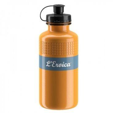 Велосипедная фляга Elite 500 мл Eroica Sand, EL0160301Фляги и Флягодержатели<br>Фляга для велосипеда Eroica Sand 500мл<br>Бренд: Elite<br>Объем: 0.50<br>Фляга вдохновленная бывшими чемпионами велоспорта<br>Винтажный цветной дизайн<br>Сертифицированный пищевой пластик<br>