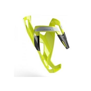 Велосипедный флягодержатель Elite  Custom Race Plus, fiberglass, желтый, черный рисунок EL0140612Фляги и Флягодержатели<br>ТЕХНИЧЕСКИЕ ХАРАКТЕРИСТИКИ<br>Новая конструкция лучше подходит для бутылки с водой, что облегчает введение и удаление<br>Окрашенные армированная структура (FRP)<br>Регулируемый резиновый коврик эластомерный<br>Избран лучших профессиональных команд<br>Эластичная ручка - предлагает лучшее сцепление бутылки<br>Изготовлен из армированных волокном полимера (FRP)<br>Установочные винты для монтажа не входя<br>Вес 40 г<br>