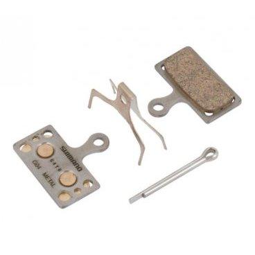 Тормозные колодки Shimano G04S, состав металл, с пружинкой и шплинтом, Y8MY98010Тормоза на велосипед<br>Тормозные колодки Shimano G04S, состав металл, с пружинкой и шплинтом. Подходят для дисковых тормозов Shimano XTR BR-M9000, BR-M9020, BR-M985, XT BR-M8000, BR-M785, SLX BR-M666, Alfine BR-S700 and BR-R785, BR-RS785.<br>