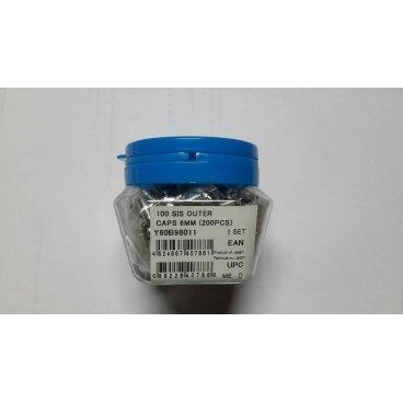 Концевик оплетки SHIMANO, металл, диаметр 5мм внутр/6мм внешн, 200шт, Y60B98011Тросики и Рубашки<br>Концевик оплетки Shimano<br>металл, диаметр 5мм внутр/6мм внешн.<br>(200шт.)<br>