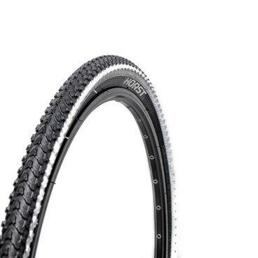 Велопокрышка HORST PQ-817, для MTB, 26x2.125 (54-559), 30 TPI, высокий, черно-белая, 00-001079Велопокрышки<br>Велопокрышки Horst предназначены как для продвинутых, так и для начинающих велосипедистов. Каждое изделие, на котором ставится клеймо Horst, продумано до мелочей. Все разработки Horst воплощаются с учетом новых веяний дизайна и велосипедной моды, в производстве применяются самые современные материалы, а производственный процесс постоянно контролируется для сохранения высокого качества продукции. <br><br>Велосипедная покрышка HORST PQ-817<br>Размер: 26x2.125 (54-559)<br>30 TPI<br>Высокий протектор<br>Внедорожная<br>