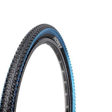 Велопокрышка HORST PQ-817, для MTB, 26x2.125 (54-559), 30 TPI, высокий, черно-синяя, 00-001081Велопокрышки<br>Велопокрышки Horst предназначены как для продвинутых, так и для начинающих велосипедистов. Каждое изделие, на котором ставится клеймо Horst, продумано до мелочей. Все разработки Horst воплощаются с учетом новых веяний дизайна и велосипедной моды, в производстве применяются самые современные материалы, а производственный процесс постоянно контролируется для сохранения высокого качества продукции. <br><br>Велосипедная покрышка HORST PQ-817<br>Размер: 26x2.125 (54-559)<br>30 TPI<br>Высокий протектор<br>Внедорожная<br>