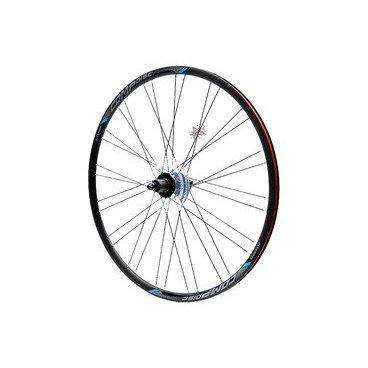Колесо велосипедное заднее Merida Comp, 22 Disc, 10S, 700C, 32H, h=22мм, черно-синий, 3030005828Колеса для велосипеда<br>БрендMerida<br>НазначениеШоссе<br>Диаметр колеса28 (700C)<br>Ось9 мм эксцентрик<br>КлапанВело (Presta)<br>