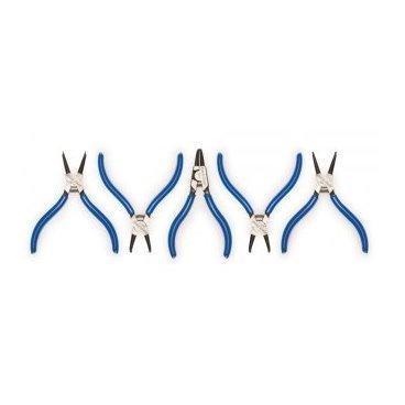 Набор клещей для стопорных колец, включает RP-1, RP-2, RP-3, RP-4, PR-5Велоинструменты<br>Клещи для стопорных колец Park Tool RP-1, 0,9мм, прямые штифты, для внутренних колец. <br>Клещи для стопорных колец Park Tool RP-2, 1.3 мм, изогнутые штифты, для внутренних колец. <br>Клещи для стопорных колец Park Tool RP-3, 1,3 мм, изогнутые штифты, для внешних колец.<br>Клещи для стопорных колец Park Tool RP-4, 1.7 мм, изогнутые штифты, для внутренних колец. <br>Клещи для стопорных колец Park Tool RP-5, 1.7 мм, прямые штифты, для внутренних колец<br>