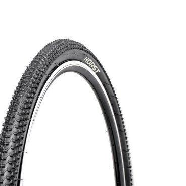 Велопокрышка HORST PQ-749, 27.5x2.125 (54-584), 30 TPI, средний, 00-001090Велопокрышки<br>Велопокрышки Horst предназначены как для продвинутых, так и для начинающих велосипедистов. Каждое изделие, на котором ставится клеймо Horst, продумано до мелочей. Все разработки Horst воплощаются с учетом новых веяний дизайна и велосипедной моды, в производстве применяются самые современные материалы, а производственный процесс постоянно контролируется для сохранения высокого качества продукции. <br><br>Велосипедная покрышка HORST PQ-749,<br>Размер: 27.5x2.125 (54-584)<br>30 TPI<br>Средний протектор<br>Внедорожная<br>