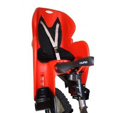 Велокресло с креплением на багажник DIEFFE, красное с черным, до 22кг, VS 11600 R/B COMFORT carrierДетское велокресло<br>Детское кресло с креплением на багажник велосипеда производства Италия. Максимальная нагрузка-до 22кг. Регулировка положения ног ребенка. Катафота на спинке кресла.<br> <br>Производство-Италия<br>