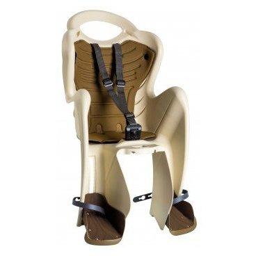 Детское велокресло на подседельную трубу BELLELLI Mr Fox Relax B-Fix, до 22 кг, бежевый, 01FXRB0025MДетское велокресло<br>На сегодняшний день торговая марка Belleli является одной из самых надежных производителей товаров для детей. Качество продукции Belleli соответствует Европейскому Стандарту Безопасности при Европейской Экономической Комиссии ООН (ECE), о чем свидетельствует маркировка со значком ECE R44/04.<br>BELLELLI MR FOX Обладает эргономичной спинкой обеспечивая безупречную посадку. Кресло оснащено трехточечными ремнями безопасности, мягкой подкладкой и широкими боковыми щитками, защищающие ноги малыша от попадания в спицы колеса с регулируемыми подножками.<br><br>Цвет: бежевый/коричневая подкладка<br><br>Система крепления: Relax B-Fix<br><br>Система крепления Relax B-Fix предусматривает крепление велокресла на подседельную трубу велосипеда с помощью специального хомута и стальных прутьев, имеет специальную платформу которая дает возможность откинуть кресло назад, обеспечивая больший комфорт. Данная система предназначена для перевозки детей весом до 22 кг.<br>