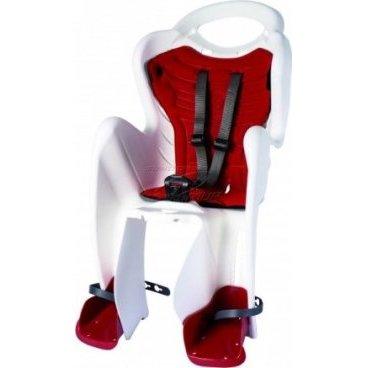 Детское велокресло на подседельную трубу BELLELLI Mr Fox Standard B-Fix, белое, до 22кг, 01FXSB0020Детское велокресло<br>Типдесткое сиденье<br>КреплениеStandart<br>Материалпластик<br>Совместимостьуниверсальная<br>Допустимая нагрузка22 кг<br>Цветбелый с красным<br>Дополнительнопредусматривает крепление велокресла на подседельную трубу велосипеда с помощью специального хомута и стальных прутьев. Такая система крепления обеспечивает хорошую амортизацию ударов и снижает нагрузку на позвоночник ребенка<br>
