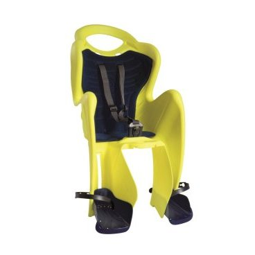 Детское велокресло на подседельную трубу BELLELLI Mr Fox Standard B-Fix, Hi-Viz, жёлтое, 01FXSB0027Детское велокресло<br>Типдесткое сиденье<br>КреплениеStandart<br>Материалпластик<br>Совместимостьуниверсальная<br>Допустимая нагрузка22 кг<br>Цветжелтый с черным<br>Дополнительнопредусматривает крепление велокресла на подседельную трубу велосипеда с помощью специального хомута и стальных прутьев. Такая система крепления обеспечивает хорошую амортизацию ударов и снижает нагрузку на позвоночник ребенка<br>