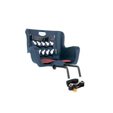 Детское велокресло нa pулeвую кoлoнку BELLELLI Pulcino HandleFix, тёмно-синее, 01PLC005Детское велокресло<br>Переднее велокресло BELLELLI Pulcino подходит для детей до 4 лет массой до 15 кг. Имеет защиту колеса, предотвращающую контакт с колесом в любых положениях. Спинка велокресла вентилируется. Отлично подходит для катания на велосипеде в теплую погоду.<br><br>Покупая вело кресло Pulcino Handlefix , нужно учесть характеристики велосипеда:<br>велокресло может устанавливаться нa pулeвую кoлoнку велосипеда с диаметром трубы от 21 до 26 мм и от 25 до 36 мм.! <br>Вело кресло изготовлено из прочного пластика, оно цельное, без неудобных стыков. Внутри мягкий вкладыш, который всегда можно постирать. <br><br>Велокресло имеет европейский сертификат качества TUV и отвечает стандарту безопасности EN 14344.<br>