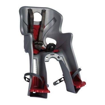 Детское велокресло на раму BELLELLI Rabbit B-Fix, серебристое, до 15кг, 01RBTB0007Детское велокресло<br>BELLELLI Сидение переднее Rabbit B-Fix, серебристое, до 15кг<br>