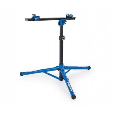 Стенд ремонтный Park Tool, напольный, складной, крепеж под каретку и за дропауты, PTLPRS-22Стенды для велосипедов<br>Стенд ремонтный Park Tool PRS-22, напольный, складная конструкция, крепеж под каретку и за дропауты. Первоначально бал разработан для профессиональных механиков Pro Tour. Стенд PRS-22 прочно удерживает любой велосипед без зажима рамы или подседельного штыря. Работает с любой системой осей, в том числе быстросъемных сквозных осей. Идеально подходит для очистки и общих ремонтно-восстановительных работ.  Ремонтный стенд Park Tool PRS-22 имеет твердую штативную конструкцию и складную систему для компактного хранения или транспортировки.<br><br>Особенности: <br>Рама изготовлена из анодированного 6063 Т6 легкого алюминия и прочных композиционных материалов (вес 12.5lbs, 5.67kg). <br>Регулируемая высота от 76 см до 114 см. <br>Вращение 360 градусов.<br>