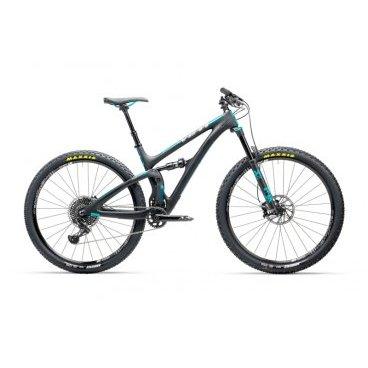 Двухподвесный велосипед Yeti SB4.5 EAGLE 29 2017Двухподвесные<br>SB4.5 - это первый велосипед от Yeti с 29-дюймовыми колёсами и системой подвески Switch Infinity. Он потрясающе ведёт себя на подъёмах и максимально стабилен на спусках. Геометрию рамы SB4.5 можно назвать оптимальной – проще говоря, это идеальный велосипед для любителей трейлрайдинга. <br>ОСНОВНЫЕ ХАРАКТЕРИСТИКИ<br><br>ВилкаFOX 34 140 PERFORMANCE BOOST 110<br>Задний амортизаторFOX PEFORMANCE FLOAT<br>ТормозаGUIDE R<br>ТРАНСМИССИЯ<br><br>Шифтеры/МанеткиX01 EAGLE<br>Задний переключательX01 EAGLE<br>Кассета1295 EAGLE 10X50<br>Система/шатуныSRAM S1400<br>КОЛЁСА<br><br>ВилсетM1900 WHEELSET 29 6-BOLT XD<br>Передняя покрышкаARDENT 2.4 FOLD EXO/TR<br>Задняя покрышкаARDENT 2.25 FOLD EXO/TR<br>НАВЕСНОЕ ОБОРУДОВАНИЕ<br><br>Рулевая колонкаCANE CREEK 40 INSET TAPER<br>РульYETI 740 TURQ<br>ВыносRACE FACE RIDE 60<br>Подседельный штырьTURBINE DROPPER<br>СедлоWTB CUSTOM SADDLE<br>