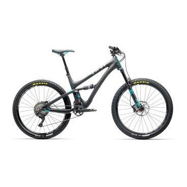 Двухподевсный велосипед Yeti SB5 XT-SLX 27.5 2017Двухподвесные<br>Велосипед Yeti SB5 Carbon XT-SLX (2017) - это самая популярная модель от компании Yeti из-за ее универсальности. Этот велосипед имеет низкий вес, хорошо едет в гору и великолепно - вниз с горы. В 2017 году дизайн рамы несколько изменился, а кроме того, появилась возможность внутренней прокладки тросов и установки втулок увеличенной ширины. Отличный байк на каждый день, на который точно не придётся жаловаться.<br><br>- Модель оснащена навесным оборудованием от Shimano.<br><br>- Для комфортного катания в течение долгого времени на карбоновую раму установлена вилка Fox 34 Performance Boost 110 и задний амортизатор Fox Peformance Float.<br><br>- Велосипед оборудован 11 - скоростной трансмиссией SLX.<br><br>- За остановку отвечают дисковые гидравлические тормоза DEORE.<br><br>- Байк обладает колесами 27,5 дюймов, обутыми в широкие и износостойкие покрышки Maxxis Ardent.<br><br>- Вес велосипеда составляет 12.66 кг.<br><br>ОСНОВНЫЕ ХАРАКТЕРИСТИКИ<br><br>ВилкаFOX 34 150 PERFORMANCE BOOST 110<br>Задний амортизаторFOX PEFORMANCE FLOAT<br>ТормозаDEORE<br>ТРАНСМИССИЯ<br><br>Шифтеры/МанеткиSLX<br>Задний переключательXT<br>КассетаXT 11-46<br>Система/шатуныRACE FACE AEFFECT<br>КОЛЁСА<br><br>ВилсетM1900 WHEELSET 27 6-BOLT SHIM<br>Передняя покрышкаARDENT 2.4 FOLD EXO/TR<br>Задняя покрышкаARDENT 2.25 FOLD EXO/TR<br>НАВЕСНОЕ ОБОРУДОВАНИЕ<br><br>Рулевая колонкаCANE CREEK 40 INSET TAPER<br>РульRACE FACE EVOLVE BAR 750<br>ВыносRACE FACE RIDE 60<br>Подседельный штырьTURBINE DROPPER<br>СедлоWTB CUSTOM SADDLE<br>