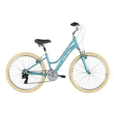 Женский велосипед Del Sol Lxi 6.1 ST 26 2017Женские<br>Del Sol Lxi 6.1<br>Велосипед комфорт-класса для прогулок по городу и загородным маршрутам. Надёжное оборудование оборудовании Shimano Tourney, удобны регулируемый руль и широкое седло обеспечат точность переключений и удобную посадку. Классический дизайн и оригинальная покраска, будут привлекать завистливые взгляды пешеходов. <br><br><br><br><br><br>Общие характеристики<br><br><br><br>Модель<br><br>2017 года<br><br><br><br>Тип<br><br>детский, для женщин<br><br><br><br>Область применения<br><br>городской<br><br><br><br>Рама, вилка<br><br><br><br>Наименование рамы<br><br>Lxi 26 Comfort 6061<br><br><br><br>Материал рамы<br><br>Алюминий<br><br><br><br>Размеры рамы<br><br>14<br><br><br><br>Вилка<br><br>Del Sol 420-E<br><br><br><br>Конструкция вилки<br><br>пружинно-эластомерная<br><br><br><br>Ход вилки<br><br>50 мм<br><br><br><br>Диаметр трубы вилки<br><br> 1 1/8<br><br><br><br>Колеса<br><br><br><br>Обод<br><br>DH18 <br><br><br><br>Диаметр колес<br><br>26 дюймов<br><br><br><br>Наименование покрышек<br><br>26 x 1.95 Comfort <br><br><br><br>Торможение<br><br><br><br>Тип тормоза<br><br>ободной механический<br><br><br><br>Шифтеры<br><br>Shimano Revo <br><br><br>Трансмиссия<br><br><br><br>Количество скоростей<br><br>21<br><br><br><br>Система<br><br>SR Suntour XCC 172, 42/32/22t <br><br><br><br>Количество звезд<br><br>3<br><br><br><br>Кассета<br><br>Shimano HG-20 12-32t <br><br><br><br>Задний переключатель<br><br>Shimano Tourney TY300D<br><br><br><br>Передний переключатель<br><br>Shimano Tourney TY500<br>