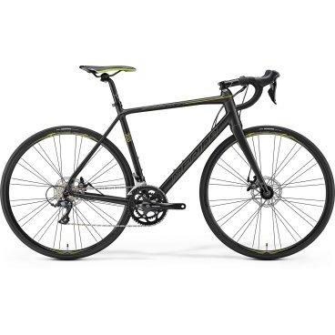 Шоссейный велосипед Merida Scultura Disc 200 2017Шоссейные<br>Шоссейный велосипед продвинутого уровня с оборудованием любительского класса Shimano, 18 скоростей. Технические особенности: алюминиевая рама Scultura lite disc BSA, жесткая вилка Scultura Carbon CF2 Disc, двойные обода Merida comp 22 disc, дисковые механические тормоза Promax Decode R. Подходит для быстрой спортивной езды по шоссе. Диаметр колес - 28 дюймов. Вес - 9,72 кг.<br>РамаScultura lite disc BSA<br>ВилкаScultura Carbon CF2 Disc 12 <br><br>МанеткиShimano Sora <br><br>ТормозаPromax Decode R Mechanical disc <br><br>Ручки тормозовShimano Sora<br>Передний переключательShimano Sora D <br><br>Задний переключательShimano Sora SS <br><br>Передняя втулкаBearing disc-12 <br><br>Задняя втулкаAlloy Disc cassette <br><br>СистемаShimano R345 50-34 Octalink <br><br>КареткаShimano Octalink <br><br>КассетаSunrace CS-9S 11-28 <br><br>ЦепьKMC M99<br>Рулевая колонкаBig Conoid semi neck pro<br>ВыносMerida Comp OS -6<br>РульMerida Expert Compact road OS<br>Подседельный штырьMerida road comp SB12 27.2<br>СедлоMerida Sport<br>ОбодаMerida comp 22 disc pair<br>ПокрышкиMaxxis Dolemites 25 fold<br><br>РазработкаГермания<br>ПроизводствоТайвань<br>Максимальный вес велосипедиста100 кг.<br>