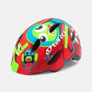 Велосипедный шлем Giro 16 SCAMP,  детский, матовый, красный/рисунок, размер XS, GI7067944Велошлемы<br>Шлем Giro 16 SCAMP детский матовый красный/рисунок размер XS,<br>Шлем Giro SCAMP обладает удивительными качествами, некоторые анлогичны шлемам для взрослых. Система Roc Loc® Jr. с системой защиты от защемления обеспечивает легкий и быстрый способ надевания шлема.  Размеры: XS (45-49 см),<br>