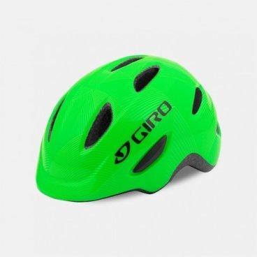 Велосипедный шлем Giro 17 SCAMP, детский, глянцевый зеленый, размер S, GI7075733Велошлемы<br>Шлем Giro 17 SCAMP детский глянцевый зеленый размер S.<br>Шлем Giro SCAMP обладает удивительными качествами, некоторые анлогичны шлемам для взрослых. Система Roc Loc® Jr. с системой защиты от защемления обеспечивает легкий и быстрый способ надевания шлема. Размер: S (49-53 см)<br>