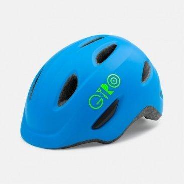 Велосипедный шлем Giro 16 SCAMP,  детский, матовый, синый/лайм размер XS, GI7067919Велошлемы<br>Шлем Giro 16 SCAMP детский матовый синий/лайм размер XS.<br>Шлем Giro SCAMP обладает удивительными качествами, некоторые анлогичны шлемам для взрослых. Система Roc Loc® Jr. с системой защиты от защемления обеспечивает легкий и быстрый способ надевания шлема. Размеры: XS (45-49 см),<br>