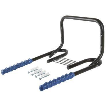 Держатель 5-430217 вело настенный горизонт сталь складной черно-синий M-WAVEДержатели и крюки для велосипеда<br>складной, с крепежом, крепление велосипеда за раму (горизонтально), сталь, с защитным пластиковым покрытием, до 20кг, черно-синий, блистер<br>