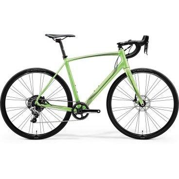 Шоссейный велосипед Merida Ride Disc Adventure 2017Шоссейные<br>Шоссейный велосипед продвинутого уровня с оборудованием начального профессионального класса SRAM, 11 скоростей. Технические особенности: алюминиевая рама Ride Lite-Single BSA, жесткая вилка Race Carbon disc 15, двойные обода Merida comp 22, дисковые гидравлические тормоза Sram. Подходит для быстрой спортивной езды по шоссе. Диаметр колес - 28 дюймов. Вес - 9,59 кг.<br>Основное<br>Модельный год2017<br>Применениешоссейный<br>Возрастная группавзрослый<br>Типмужской<br><br><br>Рама и амортизация<br><br>Материал рамыалюминий<br>Амортизациябез амортизации<br><br><br>Колеса и тормоза<br>Диаметр колес28 <br>Модель покрышекContinental Grand Sport Race<br>Материал ободаалюминий / Merida Comp 22 /<br>Ободдвойной<br>Передний тормоздисковый гидравлический / SRAM, ротор 160 мм /<br>Задний тормоздисковый гидравлический / SRAM, ротор 160 мм /<br>Руль и трансмиссия<br>Скоростей11 шт<br>Звёзд системы1 / шатун: SRAM Rival, 42T /<br>Звёзд кассеты11<br>Модель кассетыSRAM PG-1130<br>Задний переключательSRAM Rival<br>Тип манеткиdual control<br>Модель манеткиSram Rival / HRD /<br>Форма руляшоссейный<br>ВыносMerida Expert OS 5<br>Модель руляMerida Expert Compact Road OS<br><br><br>Общее<br>Модель сиденьяMerida Race<br>Модель цепиKMC X11-1<br>Вес9.6 кг<br>