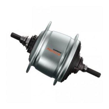 Втулка велосипедная планетарная Shimano, Nexus, C6001, 36 отверстий, 8 скоростей,  KSGC60018RASAВтулки для велосипеда<br>Shimano Nexus SG-C6001 Втулка с внутренним механизмом переключения для применения с роллерным тормозом. <br>8-скоростная.<br>132х184 мм.<br>36 спиц, <br>цвет серебристый. <br>Более высокая эффективность переключения даже при сильном натяжении цепи, обусловленном двигателями  электровелосипедов E-bike,  подходит как для применения на электровелосипедах, так и на обычных.<br>Вес 1710 гр.<br>Комплектация: без упаковки, не комплектуется шифтером, переключателем и мелкими запчастями.<br>