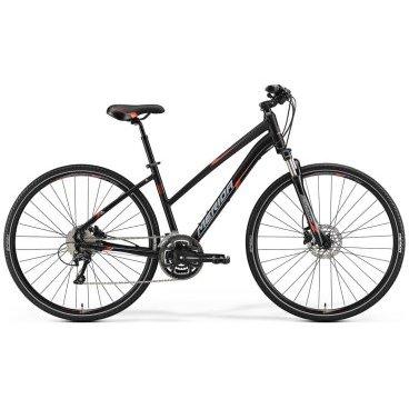 Горный велосипед Merida Crossway 300 2017Городские<br>Кроссовый велосипед Merida Crossway 300 (2017) – это городская модель, которая подходит по быстрой комфортной езды по качественным дорогам. У велосипеда Merida Crossway 300 алюминиевая рама для придания ему быстроты, а также амортизационная вилка и гидравлические тормоза, что повышает надёжность. Предусмотрен переключатель на 30 скоростей, присутствуют ободные механические тормоза. Merida Crossway 300 имеет хорошие скоростные характеристики и при этом отлично выглядит. Большинство деталей имеют специальное покрытие, которое повышает устойчивость велосипеда к атмосферным факторам.<br>Модельный год2017<br>Применениегорный (кросс-кантри)<br>Возрастная группавзрослый<br>Типмужской<br><br><br>Рама и амортизация<br><br>Материал рамыалюминий<br>Амортизацияпередняя вилка<br>Тип амортизации (вилка)пружинно-масляная / SR Suntour NCX D HLO /<br>Ход вилки63 мм<br>Локаут вилки / гидравлический /<br>Подседельная амортизация<br><br><br>Колеса и тормоза<br>Диаметр колес28 <br>Модель покрышекMerida Speed 40<br>Материал ободаалюминий / Merida Comp D /<br>Ободдвойной<br>Передний тормоздисковый гидравлический / Shimano Acera M315, ротор 160 мм /<br>Задний тормоздисковый гидравлический / Shimano Acera M315, ротор 160 мм /<br>Модель передней втулкиShimano Centerlock<br>Модель задней втулкиShimano Centerlock<br>Руль и трансмиссия<br>Скоростей30 шт<br>Звёзд системы3 / шатун: FSA Dynadrive, 48-36-26T /<br>Звёзд кассеты10<br>Модель кассетыShimano Alivio / HG500 /<br>Передний переключательShimano Deore<br>Задний переключательShimano Deore<br>Тип манеткитриггерные<br>Модель манеткиShimano Deore<br>Форма руляпрямой<br>Регулировка выноса руля<br>Модель руляMerida Comp OS / длина - 660 мм /<br><br><br>Общее<br>Комплектациящиток на цепь<br>Модель сиденьяCross Sport<br>Модель цепиKMC X10<br>Вес13 кг<br>