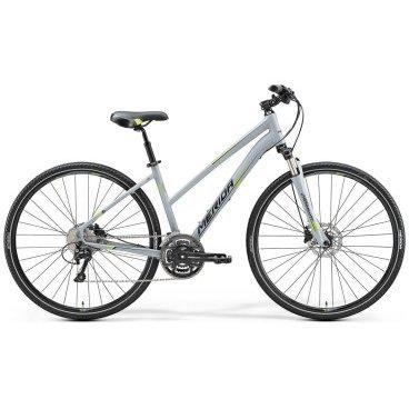 Горный велосипед Merida Crossway 300 Lady 2017Женские<br>Велосипед Merida Crossway 300-Lady придется по вкусу любительницам быстрой и максимально комфортной езды. Установлена 30-скоростная трансмиссия с переключателем Shimano Deore, для легкого подбора оптимальной передачи, и дисковая гидравлическая система тормозов, которая обеспечивает мгновенную остановку. 28-дюймовые колеса гарантируют отличный накат, а также прекрасно справляются с неровностями дорожного покрытия. Предотвратить вибрацию помогает амортизационная вилка SR NCX-D LO.<br>Основное<br>Модельный год2017<br>Применениегорный (кросс-кантри)<br>Возрастная группавзрослый<br>Типженский<br><br><br>Рама и амортизация<br><br>Материал рамыалюминий<br>Амортизацияпередняя вилка<br>Тип амортизации (вилка)пружинно-масляная / SR Suntour NCX D HLO /<br>Ход вилки63 мм<br>Локаут вилки / гидравлический /<br>Подседельная амортизация<br><br><br>Колеса и тормоза<br>Диаметр колес28 <br>Модель покрышекMerida Speed 40<br>Материал ободаалюминий / Merida Comp D /<br>Обод двойной<br>Передний тормоздисковый гидравлический / Shimano Altus M315, ротор 160 мм /<br>Задний тормоздисковый гидравлический / Shimano Altus M315, ротор 160 мм /<br>Модель передней втулкиShimano Centerlock<br>Модель задней втулкиShimano Centerlock<br>Руль и трансмиссия<br>Скоростей30 шт<br>Звёзд системы3 / шатун: FSA Dynadrive, 48-36-26T /<br>Звёзд кассеты10<br>Модель кассетыShimano Tiagra / HG500 /<br>Передний переключательShimano Deore<br>Задний переключательShimano Deore<br>Тип манеткитриггерные<br>Модель манеткиShimano Deore<br>Форма руляпрямой<br>Регулировка выноса руля<br>Модель руляMerida Comp / длина - 660 мм /<br><br><br>Общее<br>Комплектациящиток на цепь<br>Модель сиденьяCross Lady<br>Модель цепиKMC X10<br>Вес13.4 кг<br>