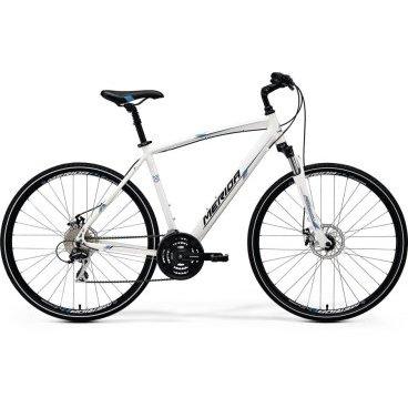 Горный велосипед Merida Crossway 20-MD 2017Горные (MTB)<br>Merida Crossway 20-MD - кроссовый велосипед с дисковыми тормозами в приятном цветовом окрасе dark blue (silver/white). Хороший показатель цена-качество! Велосипед имеет колеса 28 дюймов (622/700), алюминиевую раму CROSSWAY SPEED. Более узкая резина, специально подобраны компоненты рассчитаны для быстрой езды по твердой поверхности. Если нужно добраться на работу, или с точки А в точку Б, тогда велосипед Merida Crossway именно то, что Вам нужно! Идеальный выбор для катания по асфальту или другой твердой поверхности. Рама изготовлена из алюминиевого сплава RACELITE 61 ALUMINIUM 2017, амортизационная вилка SR Suntour NEX HLO с ходом 63 мм и блокировкой, а также оборудование Shimano. Качественный кроссовый велосипед Merida Crossway 20-MD 2017 года для быстрого передвижения! <br>Модельный год2017<br>Применениегорный (кросс-кантри)<br>Возрастная группавзрослый<br>Типмужской<br><br><br>Рама и амортизация<br><br>Материал рамыалюминий<br>Амортизацияпередняя вилка<br>Тип амортизации (вилка)пружинно-масляная / SR Suntour NEX HLO /<br>Ход вилки63 мм<br>Локаут вилки / гидравлический /<br>Подседельная амортизация<br><br><br>Колеса и тормоза<br>Диаметр колес28 <br>Модель покрышекCross<br>Материал ободаалюминий / Merida D /<br>Ободдвойной<br>Передний тормоздисковый механический / Promax MTD, ротор 160 мм /<br>Задний тормоздисковый механический / Promax MTD, ротор 160 мм /<br>Руль и трансмиссия<br>Скоростей24 шт<br>Звёзд системы3 / шатун: Shimano TY301, 48-38-28T /<br>Звёзд кассеты8<br>Модель кассетыSunrace CS8<br>Передний переключательShimano Tourney / TY /<br>Задний переключательShimano Acera<br>Тип манеткитриггерные<br>Модель манеткиShimano EZ<br>Форма руляпрямой<br>Регулировка выноса руля<br>Модель руляMerida Comp / длина - 660 мм /<br><br><br>Общее<br>Комплектациящиток на цепь<br>Модель сиденьяCross Sport<br>Вес15.1 кг<br>