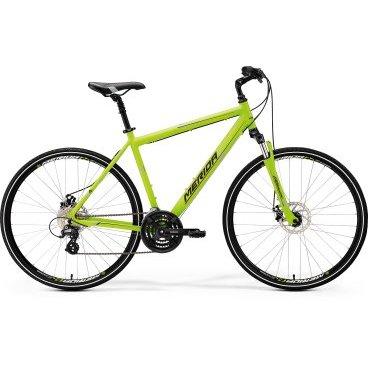 Горный велосипед Merida Crossway 15-MD 2017Горные (MTB)<br>Комфортабельный велосипед начального уровня с оборудованием любительского класса Shimano, 24 скорость. Технические особенности: алюминиевая рама Crossway DT, амортизационная вилка SR Suntour NEX, двойные обода Merida D, дисковые тормоза Jack Mechanical, регулируемый вынос руля, амортизированный подседельный штырь. Подходит для прогулочного катания в городских условиях и по несложным маршрутам в лесу. Диаметр колес - 28 дюймов. Вес - 15,1 кг.<br>Модельный год2017<br>Применениегорный (кросс-кантри)<br>Возрастная группавзрослый<br>Типмужской<br><br><br>Рама и амортизация<br><br>Материал рамыалюминий<br>Амортизацияпередняя вилка<br>Тип амортизации (вилка)пружинно-эластомерная / SR Suntour NEX /<br>Ход вилки63 мм<br>Подседельная амортизация<br><br><br>Колеса и тормоза<br>Диаметр колес28 <br>Модель покрышекCross<br>Материал ободаалюминий / Merida D /<br>Ободдвойной<br>Передний тормоздисковый механический / Jack, ротор 160 мм /<br>Задний тормоздисковый механический / Jack, ротор 160 мм /<br>Руль и трансмиссия<br>Скоростей24 шт<br>Звёзд системы3 / шатун: Shimano TY301, 48-38-28Т /<br>Звёзд кассеты8<br>Модель кассетыSunrace<br>Передний переключательShimano Tourney / TY /<br>Задний переключательShimano Altus<br>Тип манеткитриггерные<br>Модель манеткиShimano EZ<br>Форма руляпрямой<br>Регулировка выноса руля<br>Модель руляMerida Comp / длина - 660 мм /<br><br><br>Общее<br>Комплектациящиток на цепь<br>Модель сиденьяCross Sport<br>Вес15.1 кг<br>