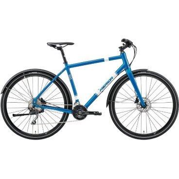 Дорожный велосипед Merida Crossway Urban 500 2017Городские<br>Дорожный велосипед для катания в городской среде с оборудованием профессионального класса Shimano, 30 скоростей. Технические особенности: алюминиевая рама Crossway Urban TFS-D-Single, жесткая вилка CC Carbon disc 15, двойные обода Merida Urban, дисковые гидравлические тормоза Shimano M315, длинные крылья, подножка. Подходит для прогулочного и спортивного катания в городских условиях. Диаметр колес - 28 дюймов. Вес - 11,46 кг.<br><br>Основное<br>Модельный год2017<br>Применениефитнес<br>Возрастная группа взрослый<br>Типмужской <br><br><br>Рама и амортизация<br><br>Материал рамыалюминий<br>Амортизациябез амортизации<br><br><br>Колеса и тормоза<br>Диаметр колес28 <br>Модель покрышекMaxxis Overdrive 35<br>Материал ободаалюминий / Merida Urban /<br>Ободдвойной<br>Передний тормоздисковый гидравлический / Shimano M315, ротор 160 мм /<br>Задний тормоздисковый гидравлический / Shimano M315, ротор 160 мм /<br>Руль и трансмиссия<br>Скоростей20 шт<br>Звёзд системы2 / шатун: Shimano M627, 38-24Т /<br>Звёзд кассеты10<br>Модель кассетыShimano HG500<br>Передний переключательShimano Deore<br>Задний переключательShimano Deore<br>Тип манеткитриггерные<br>Модель манеткиShimano Deore<br>Форма руляпрямой<br>ВыносMerida Expert OS 17<br>Модель руляMerida Comp OS / длина - 660 мм /<br><br><br>Общее<br>Комплектациякрылья / Merida 50 F15 /<br>подножка / K-Mount /<br>Модель сиденьяCrossway Comfort<br>Модель цепиKMC X10<br>Вес11.46 кг<br>