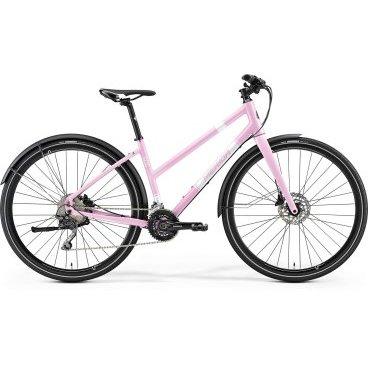 Дорожный велосипед Merida Crossway Urban 500 Lady 2017Женские<br>Женский дорожный велосипед с оборудованием предпрофессионального класса Shimano, 30 скоростей. Технические особенности: алюминиевая рама Crossway Urban TFS-D-Single, жесткая вилка CC Carbon disc 15, двойные обода Merida Urban, дисковые гидравлические тормоза Shimano M315, длинные крылья, подножка. Подходит для прогулочного и спортивного катания в городских условиях. Диаметр колес - 28 дюймов. Вес - 11,33 кг.<br>Рама и амортизаторы<br><br>РамаCrossway Urban TFS-D-Single-lady<br>ВилкаCC Carbon disc 15<br>Вес всего велосипеда<br>Цепная передача<br><br>МанеткиShimano Deore<br>Передний переключательShimano Deore double<br>Задний переключательShimano Deore Shadow<br>КареткаShimano M627<br>КассетаShimano CS-HG500-10 11-34<br>Количество скоростей20<br>ЦепьKMC X10<br>ПедалиComfort Alloy triple<br>Колеса<br><br>Диаметр28.0<br>ОбодаMerida Urban<br>СпицыBlack stainless<br>ВтулкаCenterlock-15 allen<br>ПокрышкаMaxxis Overdrive 35 kevlar ref<br>Компоненты<br><br>Передний тормозShimano M315 160 cen<br>Задний тормозShimano M315 160 cen<br>ГрипсыCrossway Ergo<br>РульMERIDA comp OS 660 R25<br>Рулевая колонкаBig Conoid semi neck pro<br>СедлоCrossway comfort lady<br>Подседельный штырьMERIDA Expert SB15 27.2<br>РазработкаТайвань<br>ПроизводствоКНР (Тайвань)<br>